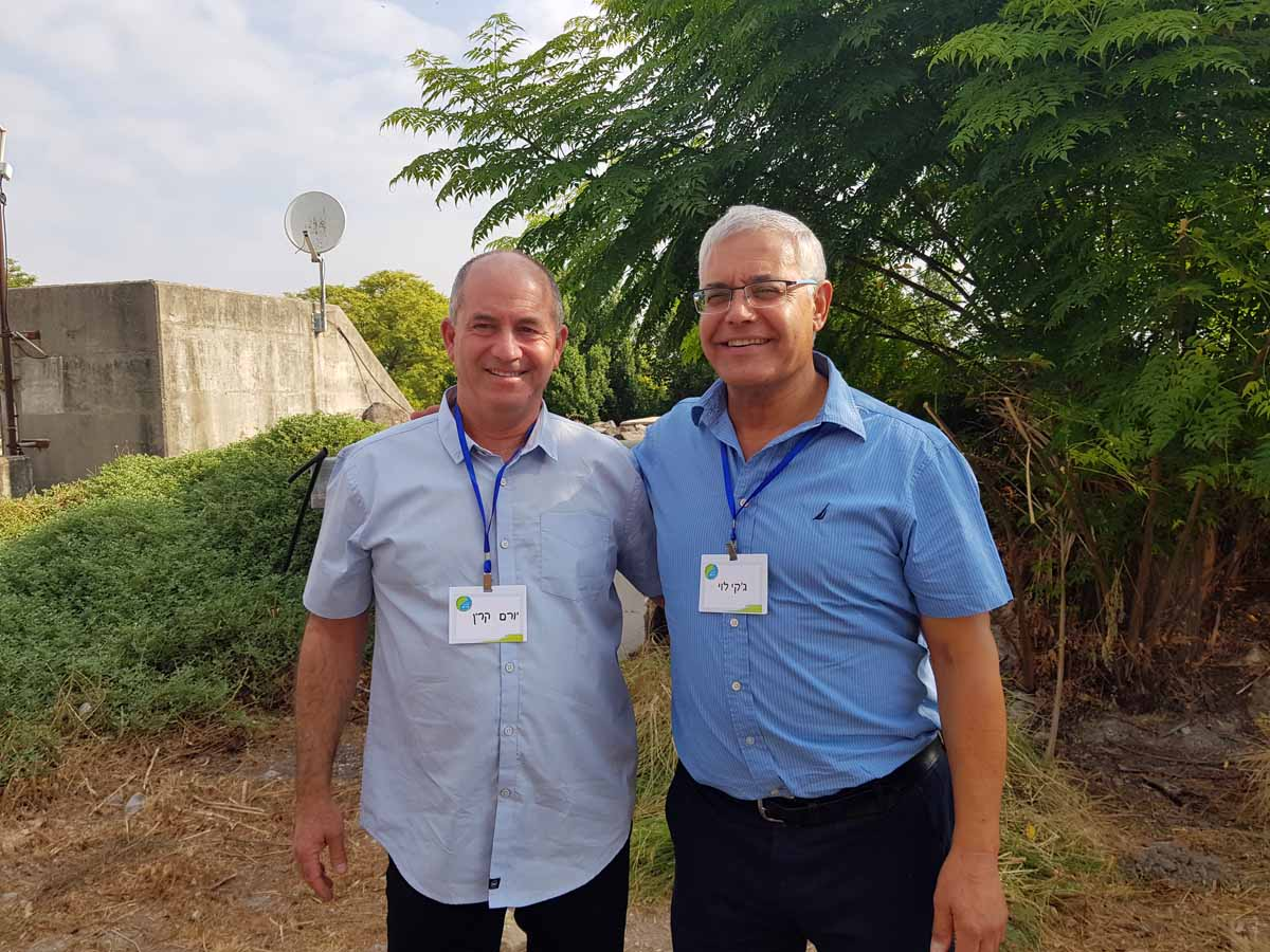 ראשי רשויות בית שאן ועמק המעיינות ז'קי לוי ויורם קרין