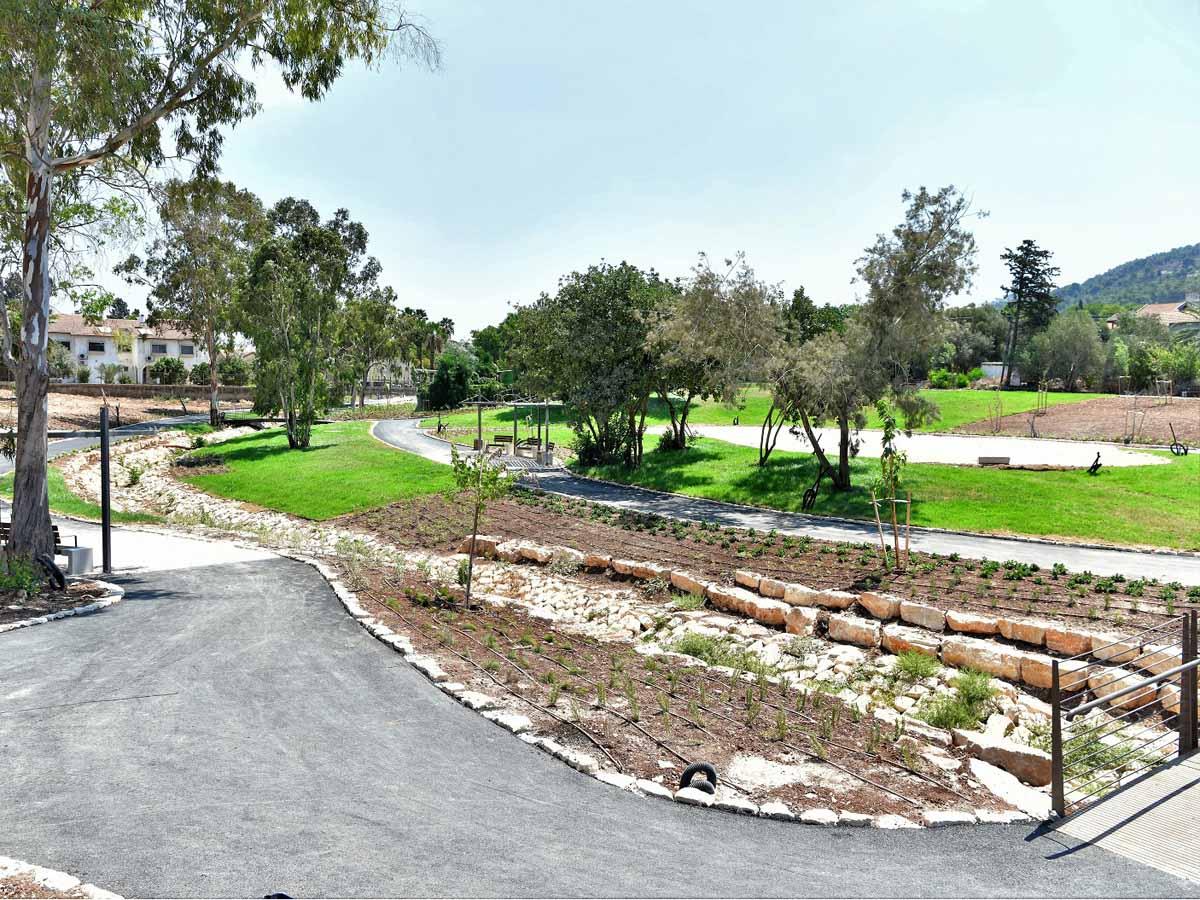 ממדשאות רחבות ידיים, שבילי הליכה מוארים, ספסלים מוצלים ושני גשרים קטנים ורומנטיים. צילום: דוברות עיריית עפולה