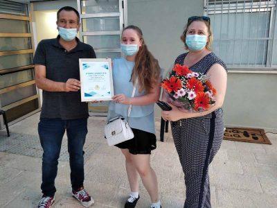 """כבוד: בוגרת ויצו ניר העמק זכתה בפרס המתנדב המצטיין ע""""ש אלעד ריבן"""