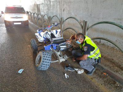 עמק יזרעאל: תאונת דרכים קשה בין מערבל בטון לטרקטורון
