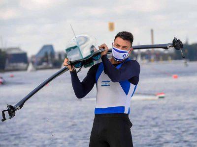 כבוד: החותר דני פרידמן מעפולה סיים במקום התשיעי באליפות אירופה