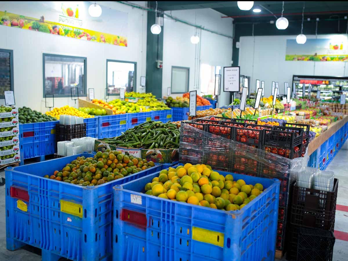 מגוון עשיר וטרי של פירות וירקות . צילום: יונתן שדה