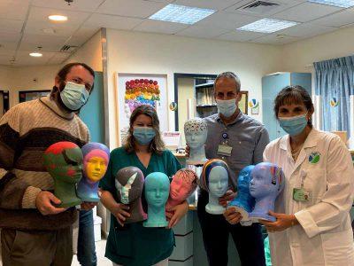 מרגש: ראשי פאות מעוטרים למען חולות הסרטן במרכז הרפואי העמק