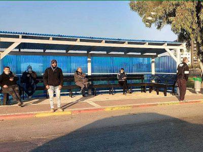 עפולה: הוקמה תחנת ההמתנה לפועלים פלסטיניים מחוץ לעיר