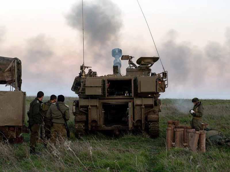 חטיבת 282 במהלך אימונים בצפון