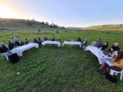 """מחאה במגידו: ישיבה מיוחדת בעמק השלום על הכוונה לבנות נדל""""ן במקום"""