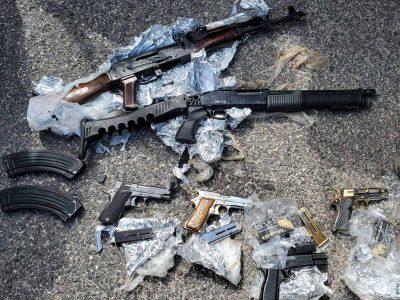 נתפס על טרקטורון: עם שישה נשקים וילד בן 13