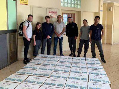 תלמידי ויצו ניר העמק במבצע איסוף מצרכי מזון עבור נזקקים