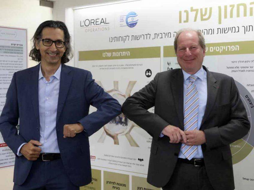 שגריר צרפת בישראל ביקר במפעל לוריאל במגדל העמק