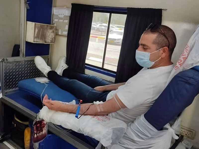 עפולה: תושבי העיר מתגייסים לתרומת דם עבור נפגעי האסון במירון