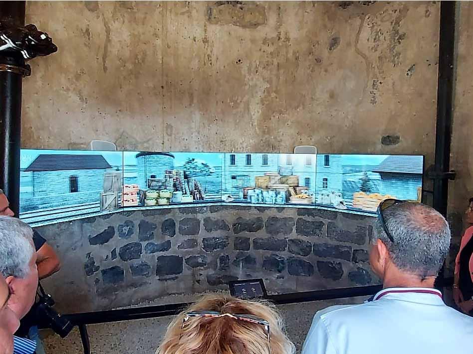 מיצג הוידאו במגדל המים הישן בפארק הרכבת