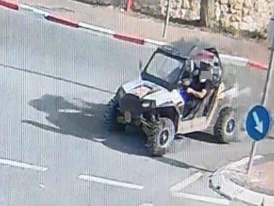 שני חשודים בגניבת רכב שטח מסוג RZR נעצרו ע״י המשטרה