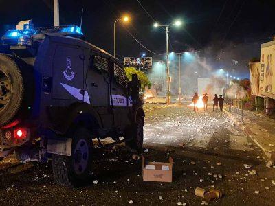 לילה לא שקט: 151 עצורים בחשד להפרות סדר באזור