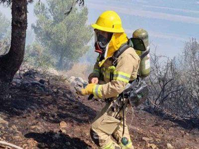 שריפה גדולה בסמוך לנוף הגליל