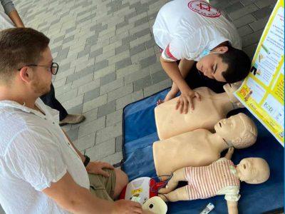 """עפולה: מתנדבי מד""""א לימדו תושבים כיצד משתמשים במזרק ה""""אפיפן"""""""