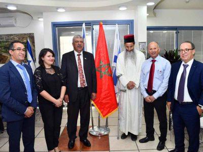 עפולה: ביקור היסטורי של שגריר מרוקו הראשון בישראל