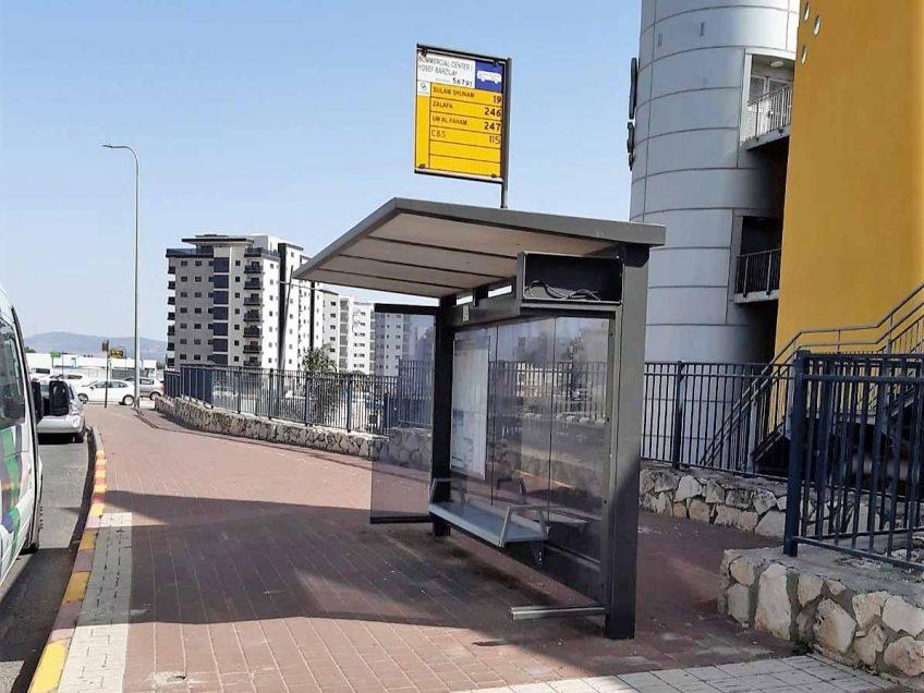 לקראת הקיץ: הוצבו עשרות תחנות אוטובוס חדשות ומוצלות בעפולה