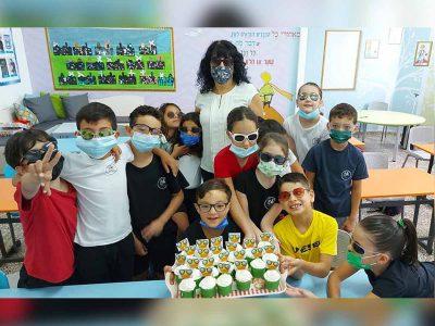 מגדל העמק: תלמיד החל להרכיב משקפיים, חבריו לכיתה הקדישו יום שלם ליצירה