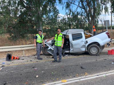 תאונה חזיתית קשה בכביש 65 בסמוך לבית קשת