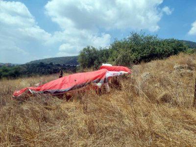 הרוג בהתרסקות מצנח רחיפה בסמוך להר תבור