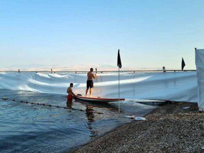 """""""בין הזמנים"""": מסתיימות העבודות בחוף המופרד בכינרת"""