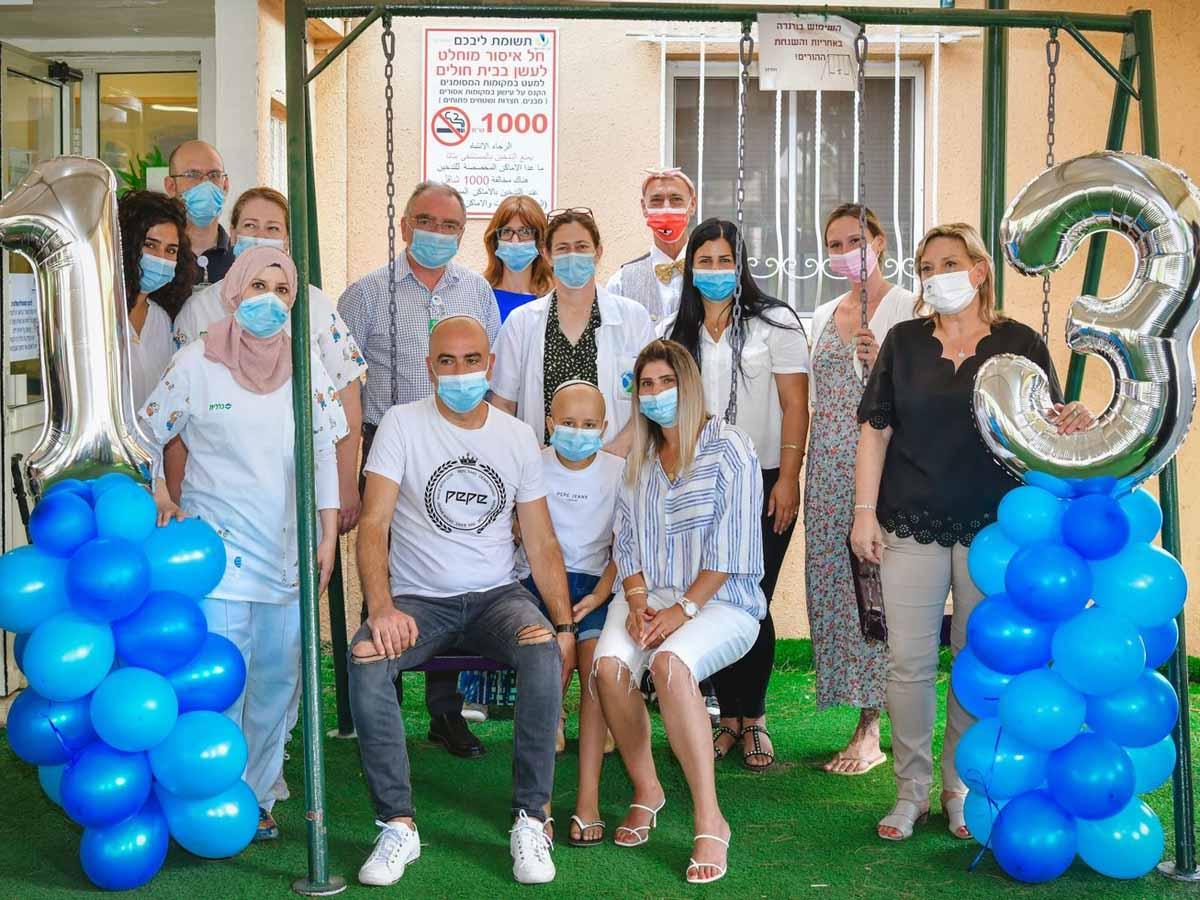 חוגגים בר מצווה מרגשת במחלקה האונקולוגית במרכז רפואי העמק לנאור דניאלי