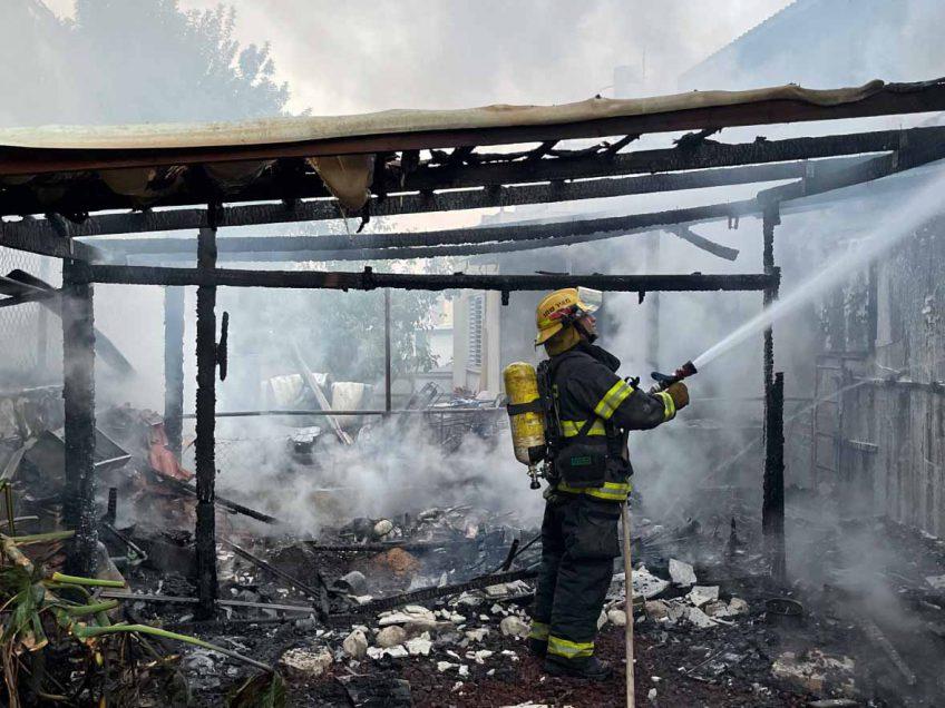 עפולה: נפגע קל בשריפה בשכונת גבעת המורה