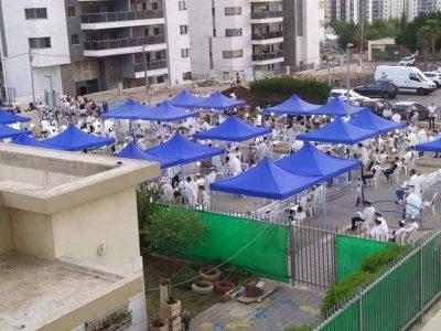 בפעם ה-11: אוהל נייד ומיוחד עבור מתפללי יום כיפור ברובע יזרעאל