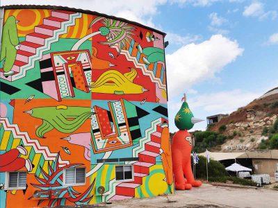 """""""למעלה"""": ציור קיר ענק נחנך בעמק המעיינות"""